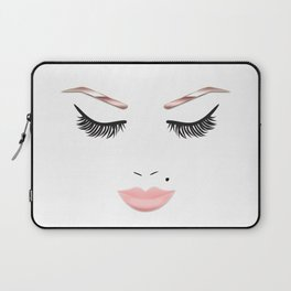 Rose Gold Beauty Face Laptop Sleeve