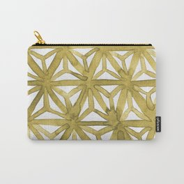 Gold Asanoha Carry-All Pouch