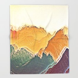 colour mountain Throw Blanket