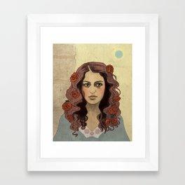 Scarlet Begonias Framed Art Print