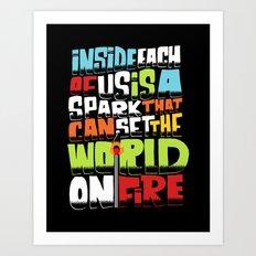 a spark inside Art Print