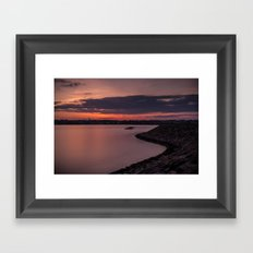 Sets on the West Framed Art Print