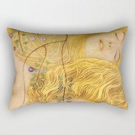 Gustav Klimt - Water Serpents, 1 (detail) Rectangular Pillow