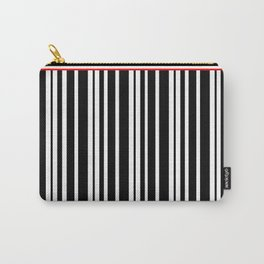 Black and White Stripes Carry-All Pouch
