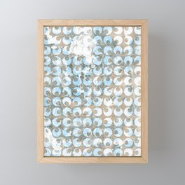 New Tendances dark marble Framed Mini Art Print