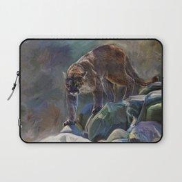 The Mountain King - Cougar Wildlife Art Laptop Sleeve