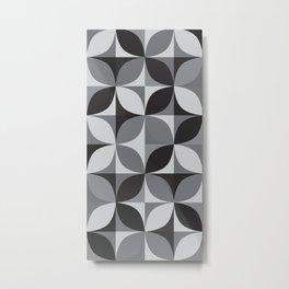 Retro pattern geometric Metal Print