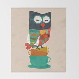 Morning Owl Throw Blanket