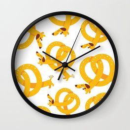 Pretzel Dog Wall Clock