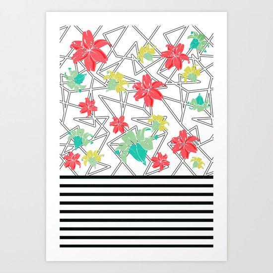 Flowershop map Art Print