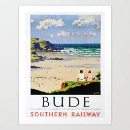 retro Bude retro poster Art Print