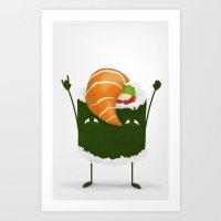 Sushi Rocks! Art Print