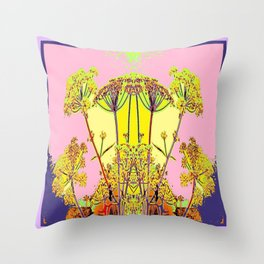 Queen Ann's Lace Floral Design Throw Pillow