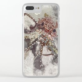 Lobster Watercolor Clear iPhone Case