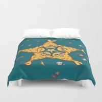 starfish Duvet Covers featuring StarFish by Lili Batista