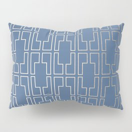 Simply Mid-Century in White Gold Sands and Aegean Blue Pillow Sham