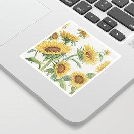 Blooming Sunflowers Sticker