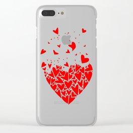 Flyaway Love Hearts Clear iPhone Case