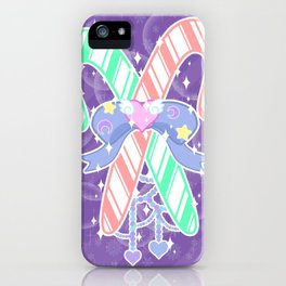 Candy Canes: Fairy Kei Version iPhone Case