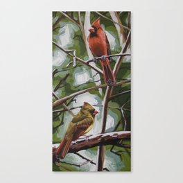 Lolita's Cardinals Canvas Print