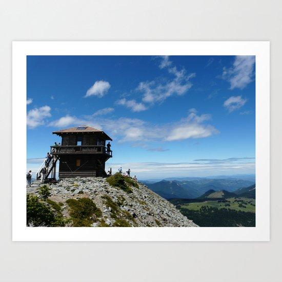 Mountain lookout Art Print