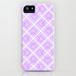 Electric Violet Interlock Pattern iPhone Case