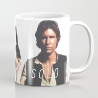 han solo Mugs featuring Han / Solo by Earl of Grey