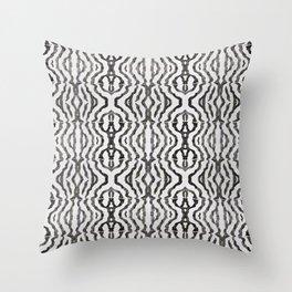 Black Coral Weaving Throw Pillow