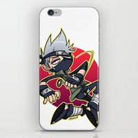 kakashi iPhone & iPod Skins featuring Kakashibi by Jackce