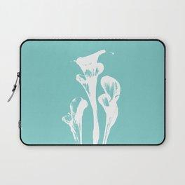 Calla Lily - Aqua Laptop Sleeve