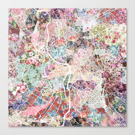 Toulouse map Canvas Print