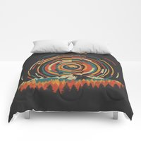 Comforters featuring The Geometry of Sunrise by Dianne Delahunty