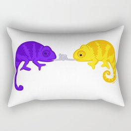 French kiss gone wrong Rectangular Pillow