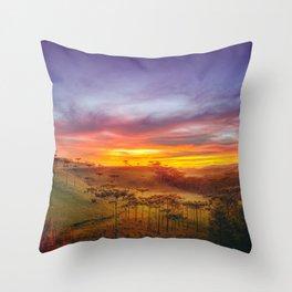 Araucaria Valley Throw Pillow