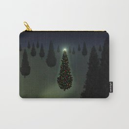 Christmas Tree Green Carry-All Pouch