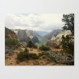 Above Zion Canyon Canvas Print