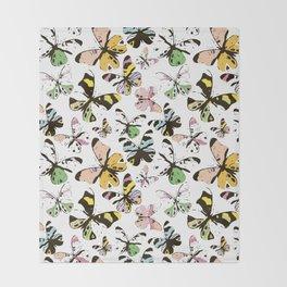 Ghosts of butterflies Throw Blanket