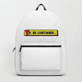 Cartoon box to be continued Backpack