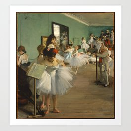 The Dance Class, Degas Art Print