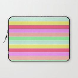 Pastel Rainbow Sorbet Horizontal Deck Chair Stripes Laptop Sleeve