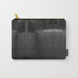 Black and White Rain Drops; Abstract Carry-All Pouch