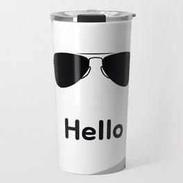 Hello,black sunglasses Travel Mug