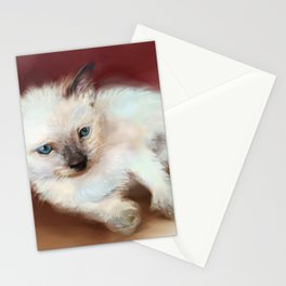 kitty white Stationery Cards