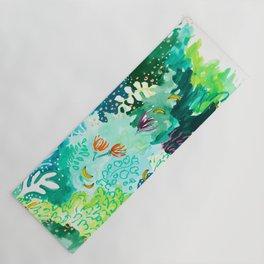 Twice Last Wednesday: Abstract Jungle Botanical Painting Yoga Mat