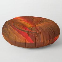Warmth, Abstract Fractal Art Floor Pillow