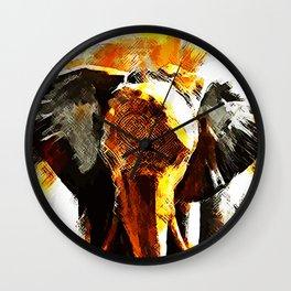 INDI ELEPHANT Wall Clock