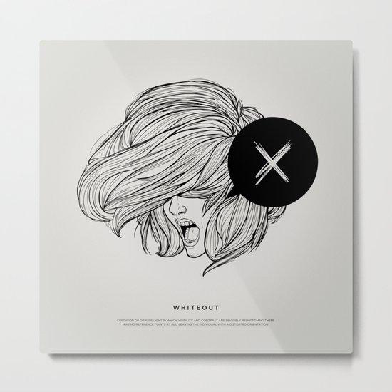 STV - Whiteout Metal Print