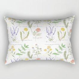 Medicinal Herbs Rectangular Pillow