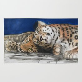 Amur Leopard - Mother and Cub Rug