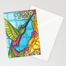 Hummingbird Quilt Square Stationery Cards